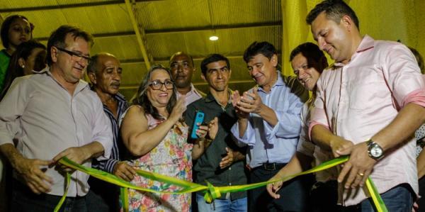 Governador W. Dias inaugurou Obras na Cidade de Hugo Napoleão