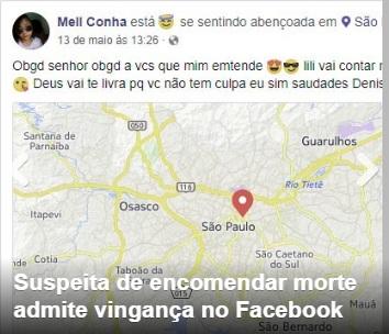 Suspeita de encomendar execução em Floriano admite vingança no Facebook