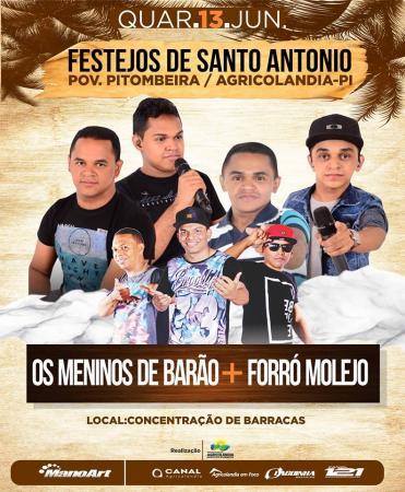 Festejos de Santo antônio em Agricolândia já tem programação festiva confirmada