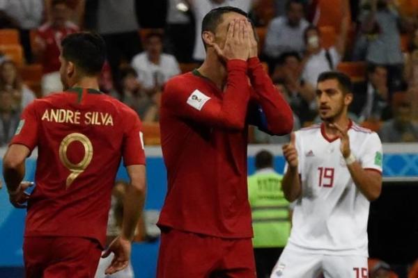 CR7 erra pênalti, Portugal empata com Irã em 1 a 1 e perde liderança do Grupo B