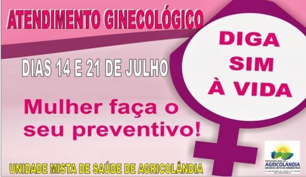 Unidade Mista de Saúde de Agricolândia realizará atendimento ginecológico