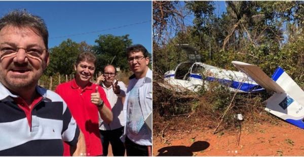 Avião com Rodrigo e Wilson Martins faz pouso forçado em Timon no MA