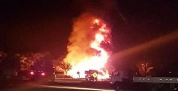 Vídeo mostra explosão de caminhão-tanque na BR 316, que deixou uma vítima fatal