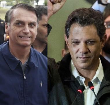 Bolsonaro e Haddad se enfrentarão no segundo turno das eleições