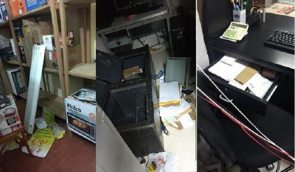 Bandidos arrombam loja do Armazém Paraíba em Regeneração na madrugada deste domingo