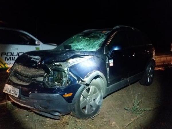 Colisão deixa duas pessoas feridas na cidade de Valença do Piauí