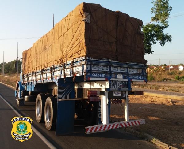 PRF-PI apreende mais de 40 toneladas de madeira sem licença na BR-316 em Teresina