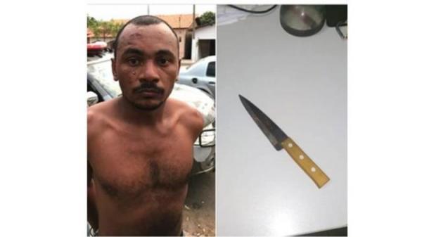 PM prende suspeito de matar amigo a facadas após discussão em bar na cidade de Elesbão Veloso