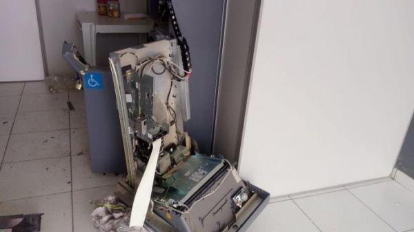 Agência do Bradesco é invadida e caixa eletrônico arrombado no Piauí