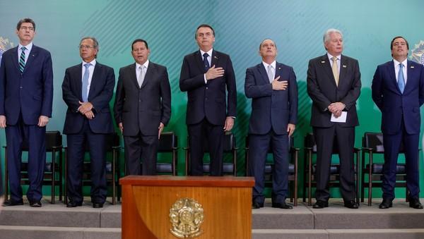 Presidentes do BNDES, BB e Caixa tomam posse em cerimônia com Bolsonaro e Guedes