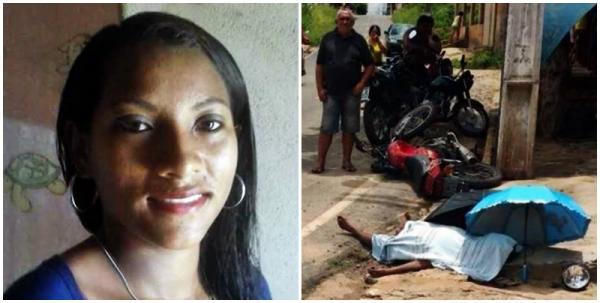 Mulher morre ao perder o controle da motocicleta na cidade de Amarante-PI