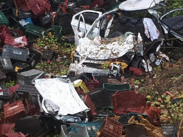Acidente grave na BR 316 deixa dois mortos em Estaca Zero município de Lagoinha do Piauí