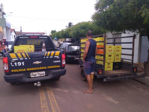 PRF_PI prende cinco pessoas por saque de carga de cerveja na BR 316 em Ipiranga