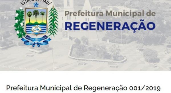 Prefeitura de Regeneração abre concurso público com 47 vagas