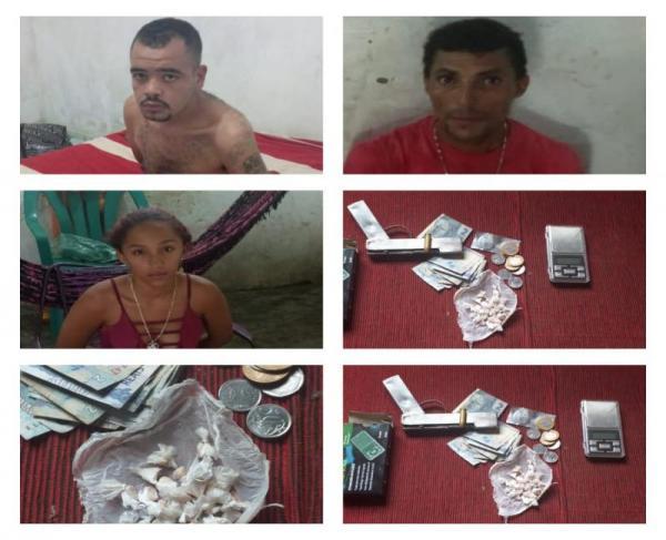 Polícia prende 4 pessoas acusadas de tráfico de drogas em Demerval Lobão