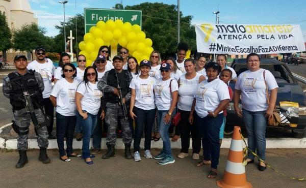 Força Tática participa da Campanha maio amarelo valorização a vida no Trânsito em Regeneração