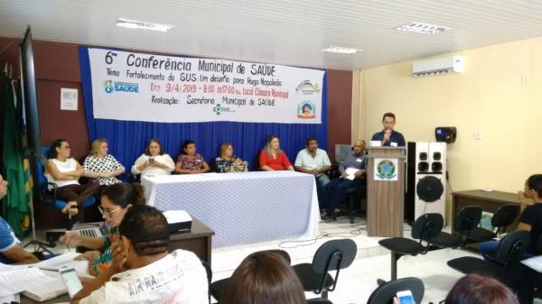 VI Conferência Municipal de Saúde é realizada em Hugo Napoleão