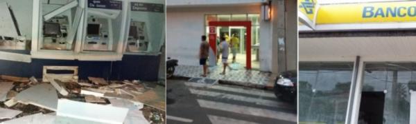 Criminosos armados com fuzis explodem agências bancárias na madrugada desta terça-feira em Campo Maior