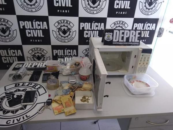 Homem é preso com cocaína pura escondida dentro de microondas na Zona Sudeste de Teresina