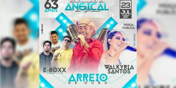 Aniversário de Angical do Piauí terá shows com Walkiria Santos, Arreio de Ouro e E-Boxx Funk Live