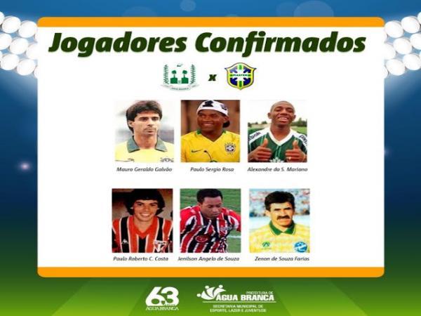 Seleção Brasileira Master fará partida amistosa no Aniversário de  Água Branca
