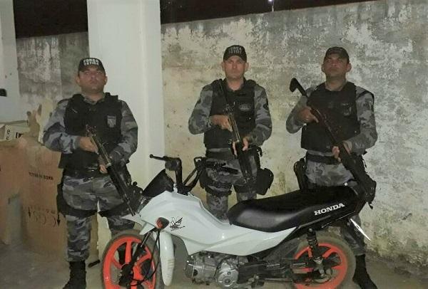 Força Tática recupera motocicleta roubada em São Pedro do Piauí