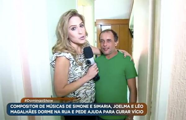"""Paulynho Paixão em reportagem da Record fala como foi parar no """"fundo do poço"""""""
