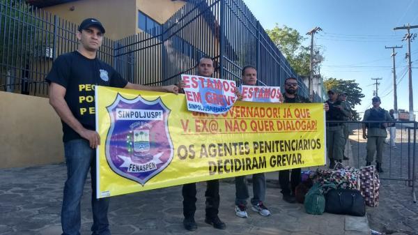 Agentes penitenciários do Piauí iniciam greve cobrando reajustes
