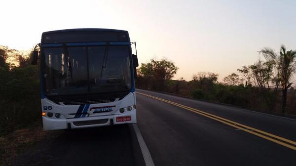 Grupo assalta ônibus da Editur e atira dentro do veículo na BR 316