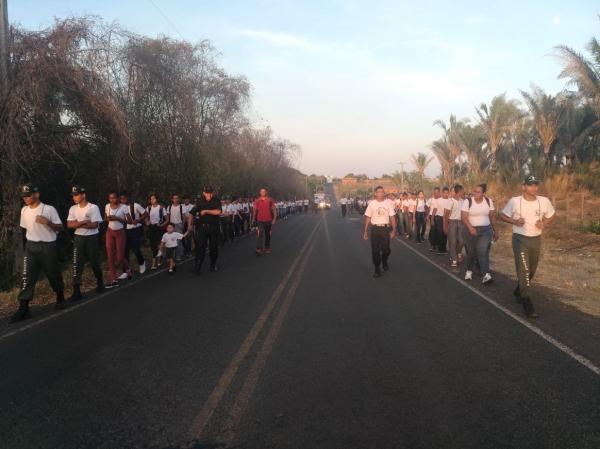 1ª marcha de integração entre os pelotões mirins de Passagem Franca, Riacho Seco e Olho D'Água