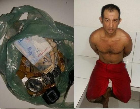 Suspeito de praticar furto em lanchonete é preso no centro de Água Branca
