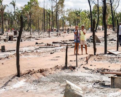 A dor causada pelo incêndio que devastou 219 famílias no assentamento em Teresina