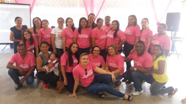 """Em Agricolândia Campanha """"Outubro Rosa"""" acontece ação social"""