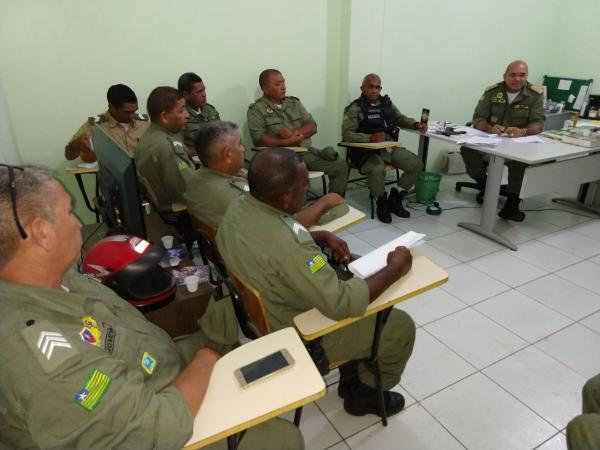 18º Batalhão da Polícia Militar realizou reunião sobre a segurança do Carnaval em Água Branca e toda região