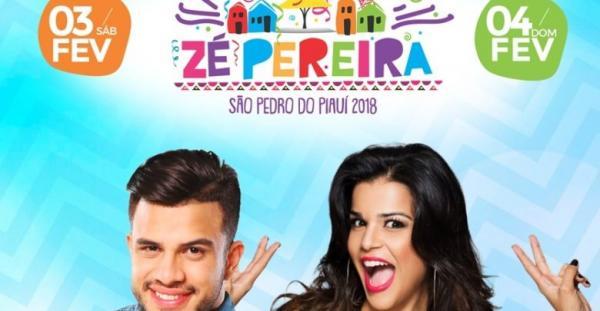 Avine Vinny e Babado Novo animarão Zé Pereira de São Pedro do PI