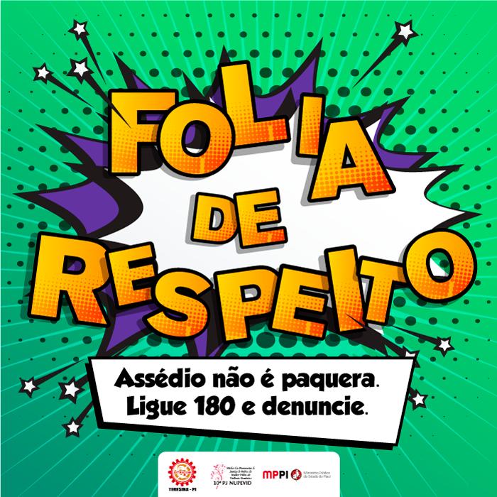 MP do Piauí lança campanha contra assédio no carnaval