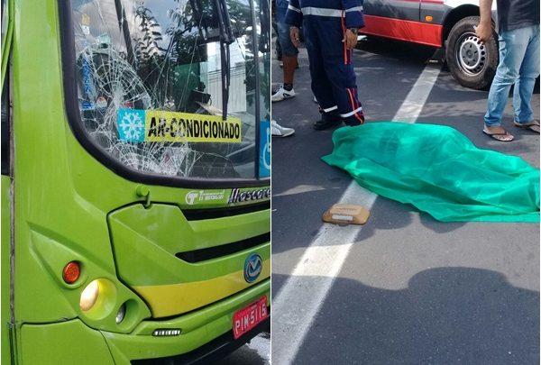 Ônibus atropela e mata pedestre na Av. Miguel Rosa em Teresina