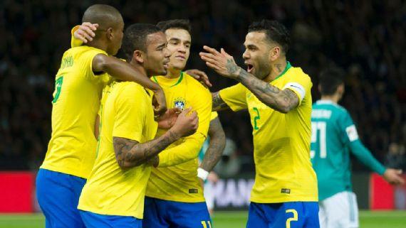 Brasil joga bem e vence a seleção da Alemanha na preparação para a Copa