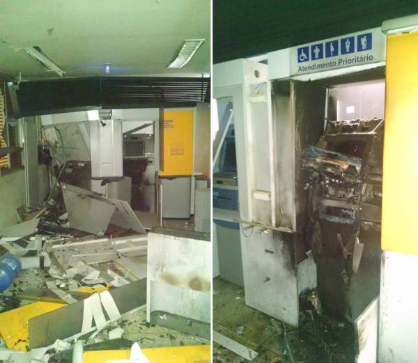 Bandidos explodem a 2ª Agência Bancaria em apenas uma semana no Sul do Piauí