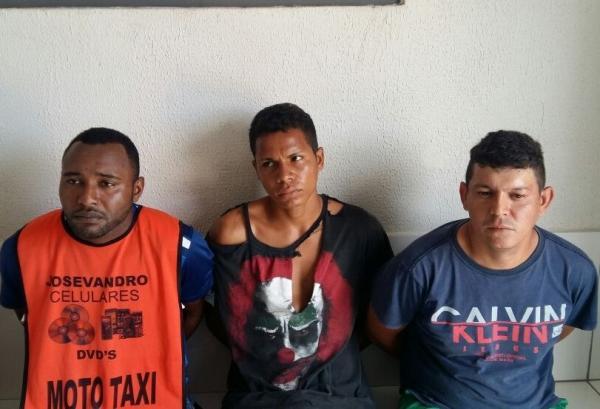 Três homens são presos e menor é apreendida com suspeita de tentativa de assalto em Água Branca
