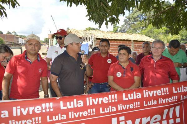 Caravana pró-Lula percorre doze cidades no Médio Parnaíba